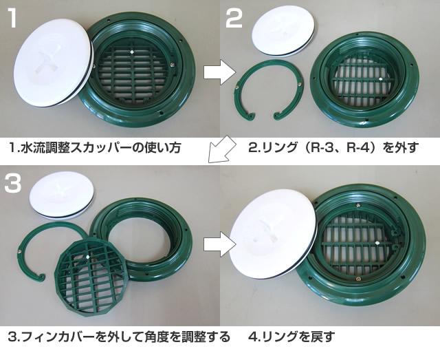 イケダ式 水流調整スカッパー【イケダ商会】
