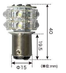 ナビゲーションライト サイズ図