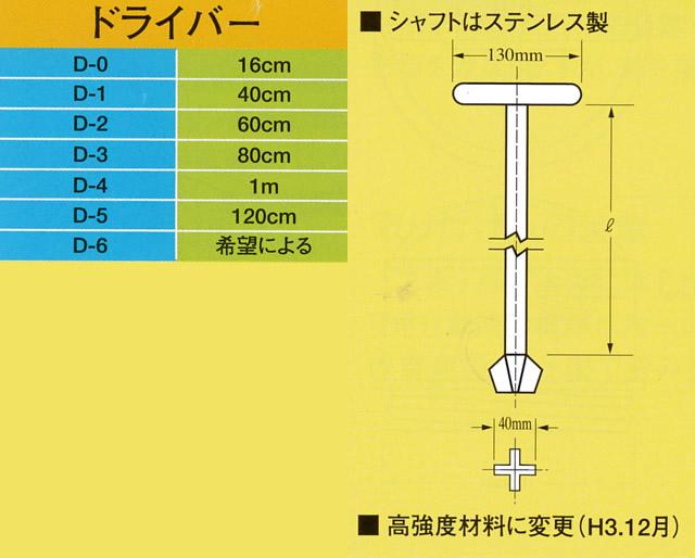 イケダ式 ドライバー (スカッパーハンドル) 【イケダ商会】