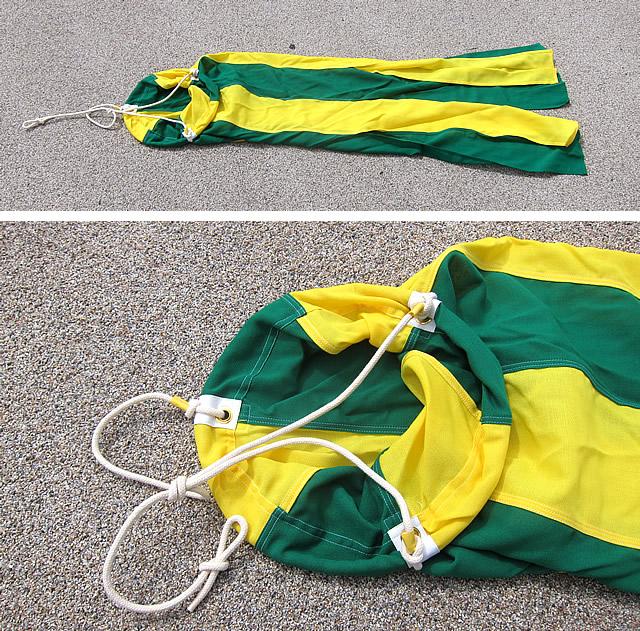 旗 吹流し 吹き流し 300φ×1500 緑黄 伴天