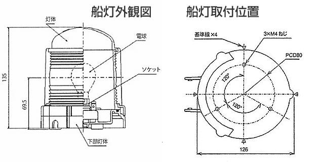 電球式航海灯 JCI認定品 日本船燈 図03