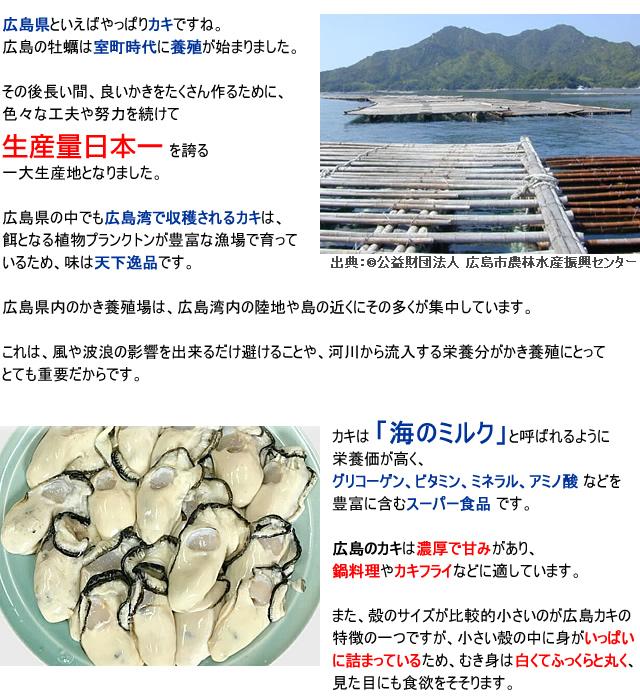 生牡蠣 むき身 加熱用 かき料理のレシピ 【広島県産】 瀬戸内海で育った新鮮な牡蠣!